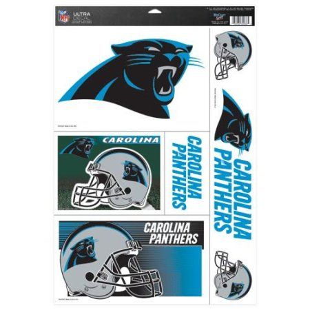 NFL Carolina Panthers Multi Use Decal, 11 x 17 inch, Black, Multicolor
