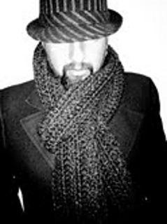 Husband Scarf-free crochet pattern-super bulky yarn