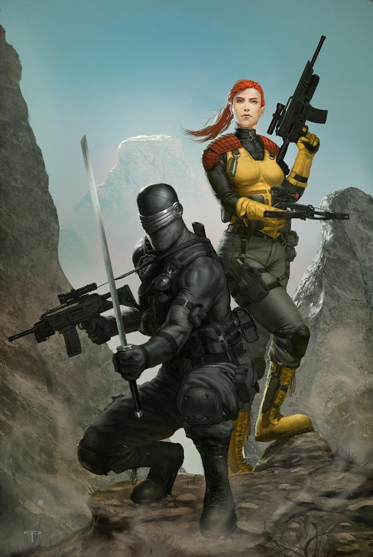 Snake Eyes and Scarlett