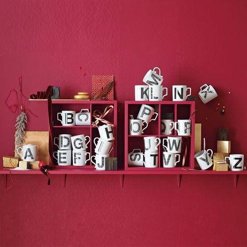 Jeremy would hate it if i got these!!  Alphabet mugs.
