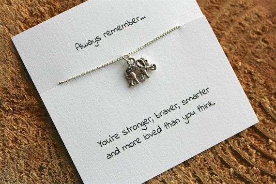 Silver elephant necklace, best friend necklace, friendship necklace, silver necklace, charm necklace, friendship charm, gift for her