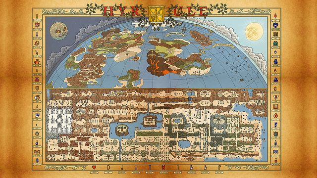 NES Hyrule Map wallpaper (Legend of Zelda/Adventure of Link) | Flickr – Compartilhamento de fotos!