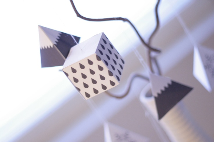 Winter paper decorations made by Mini eco´s patterns