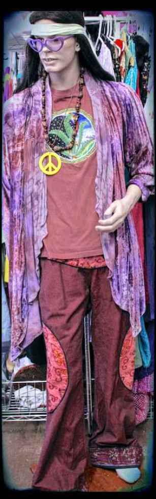 Purple velvet hippy jacket