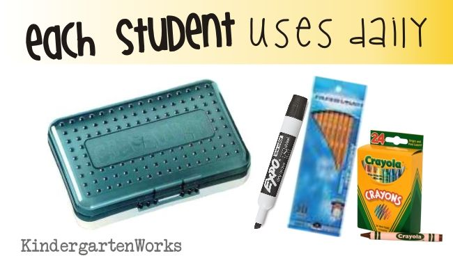 Kindergarten School Supply List :: KindergartenWorks - Personal pencil boxes