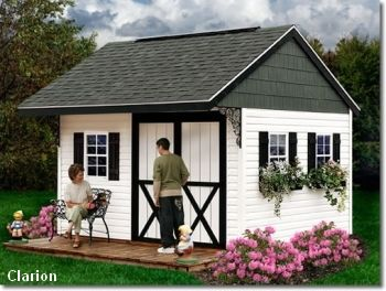 Best Barns   Clarion Prep For Vinyl Siding Wood Storage Shed Kit