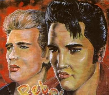 James Dean amd Elvis by Tora