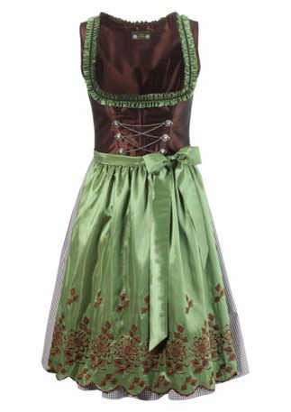 Green and brown dirndl