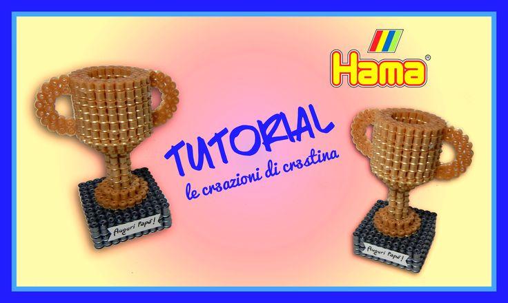 DIY Coppa 3D con Hama beads/Perler/Pyssla - Champion Cup by cr3stina Qui il tutorial: https://youtu.be/wNIlEuxhc-o