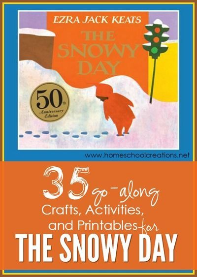 A collection of 35+ crafts, activities, and printables to go along with the book The Snowy Day by Ezra Keats from Homeschool Creations