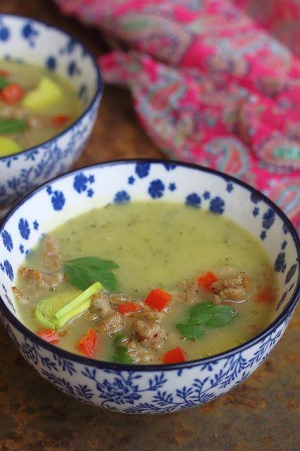 Smakowity Blog Kulinarny: Zupa krem z pora i cukinii