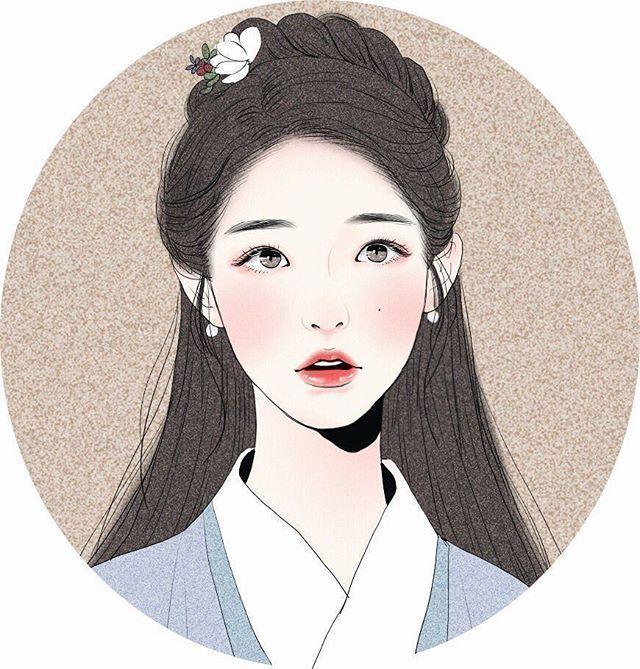 """Fan art of IU (아이유) as Hae Soo/Go Ha-jin from the SBS K-drama, """"Moon Lovers: Scarlet Heart Ryeo (달의 연인 - 보보경심 려)""""."""