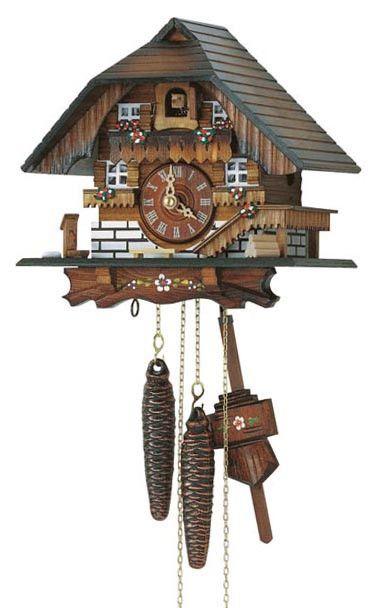 """Schneider 8"""" Black Forest Farmhouse German Cuckoo Clock"""