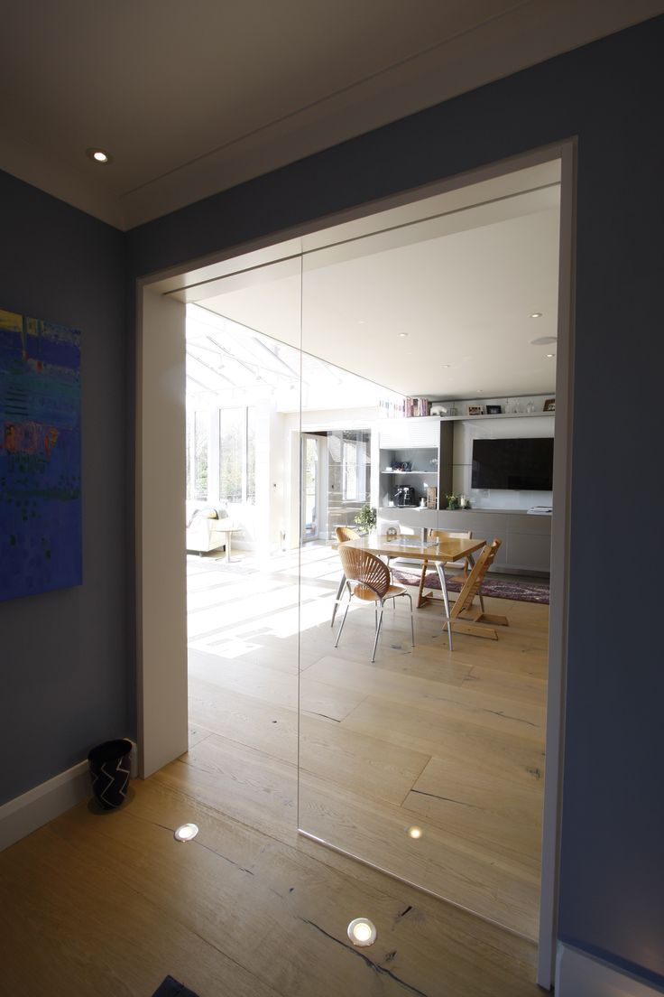 Internal sliding glass door