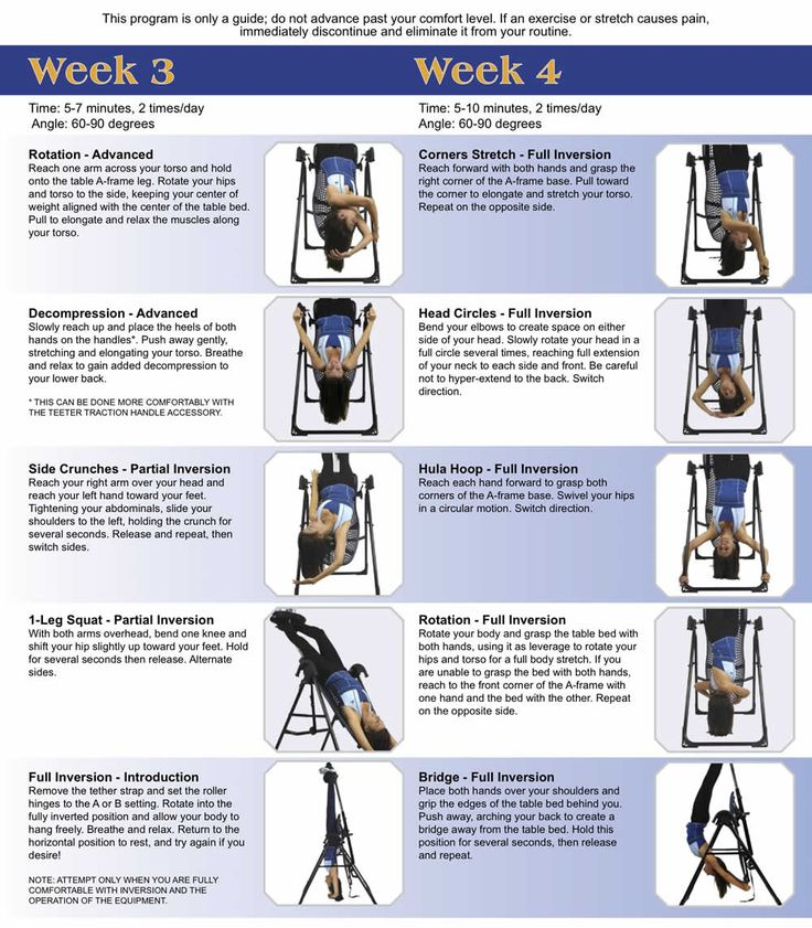 30 Day Teeter Inversion Program Exercise And Water