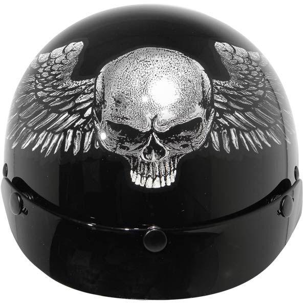 Home  > #Motorcycle #Helmets  > Outlaw Helmets  > Outlaw Ultra Slim Half Helmets  Ultra Slim Profile Fiberglass Relic Graphic Motorcycle Half Helmet