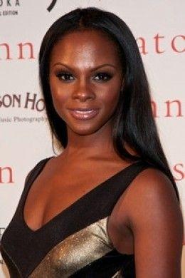 Black Female Celebrity | Beautiful Tika Sumpter. Dark skin black women celebrities.