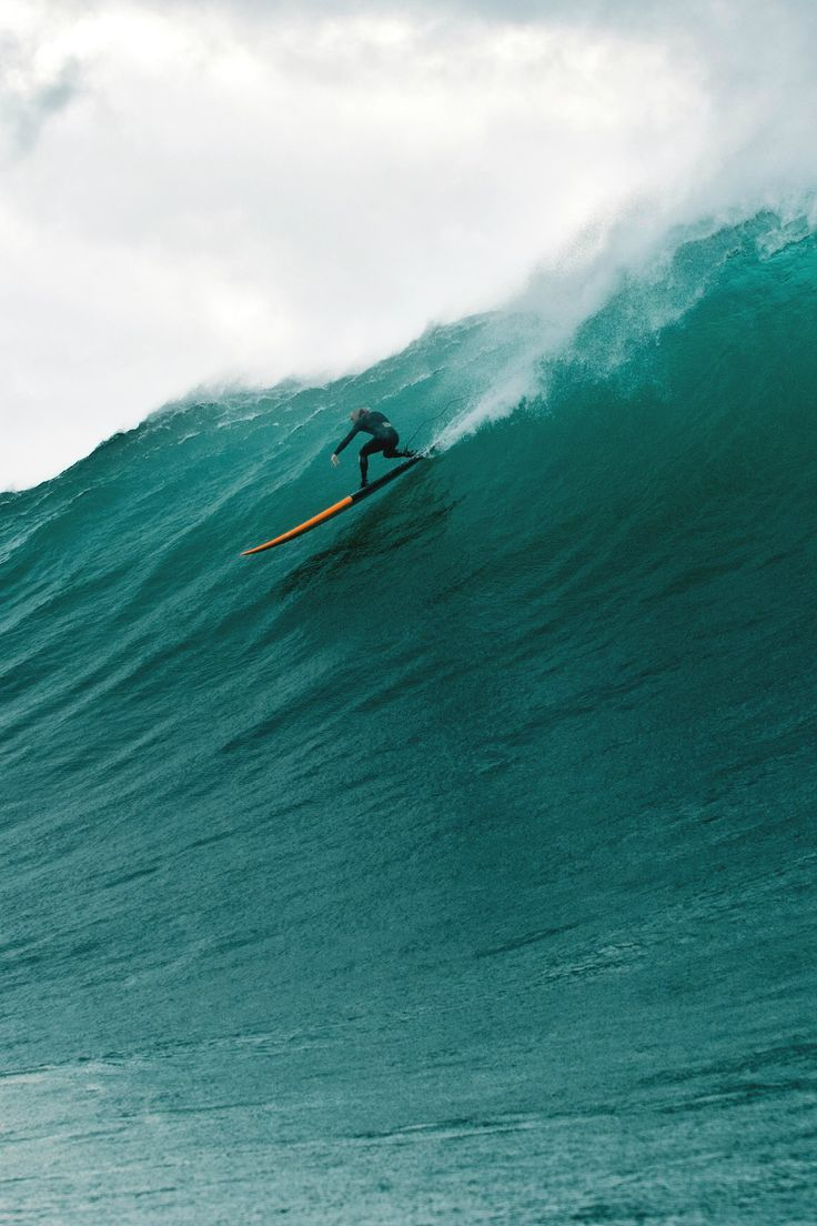 Big wave surfing.