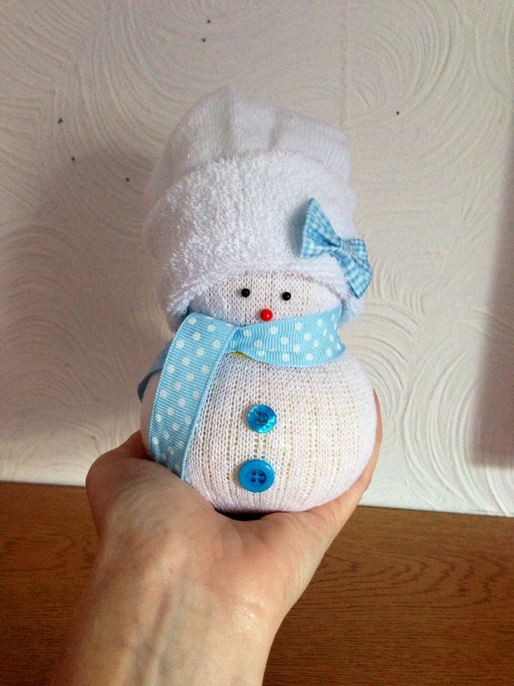 Handmade Sock Snowman. No sewing needed!