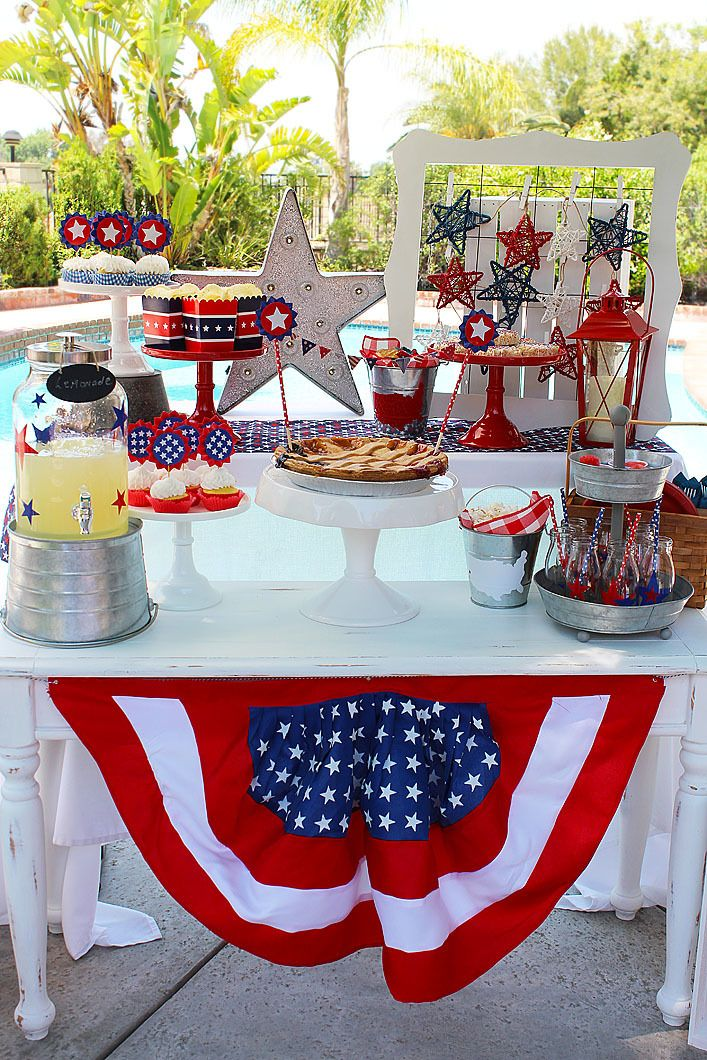 Patriotic BBQ and Party - Red White and Blue idea for Memorial Day, Independence Day and Labor Day!