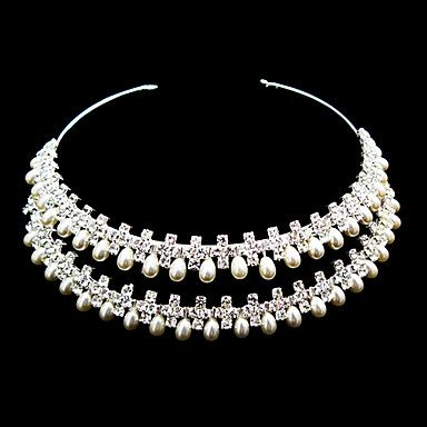 Gorgeous Rhinestones With Imitation Pearl Wedding Bridal Tiara/ Headband/ Headpiece – AUD $ 42.89