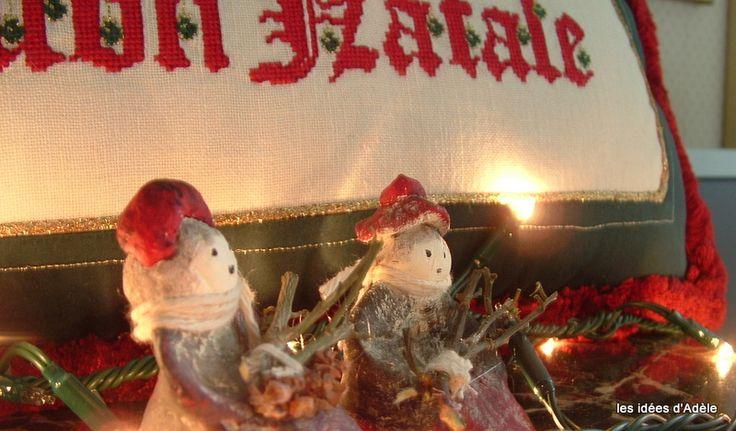 Buon Natale punto croce, statuine in pasta di sale.