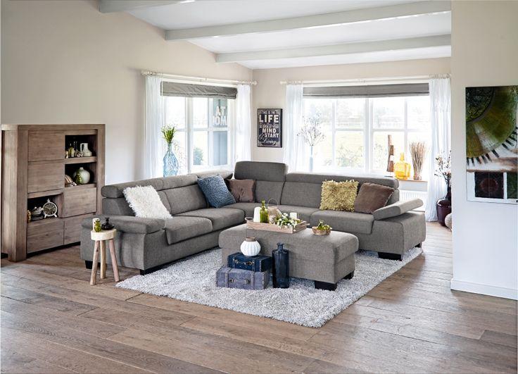 64 best hoek banken images on pinterest lounge living room and by the - Moderne hoek lounge ...