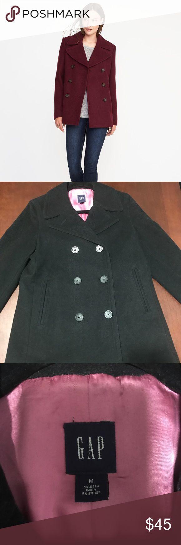 Gap black pea coat It has been used but still in good condition GAP Jackets & Coats Pea Coats