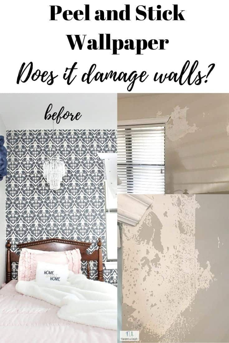 Peel And Stick Wallpaper Does It Damage Paint When Removed Peel And Stick Wallpaper Homemade Home Decor Diy House Renovations