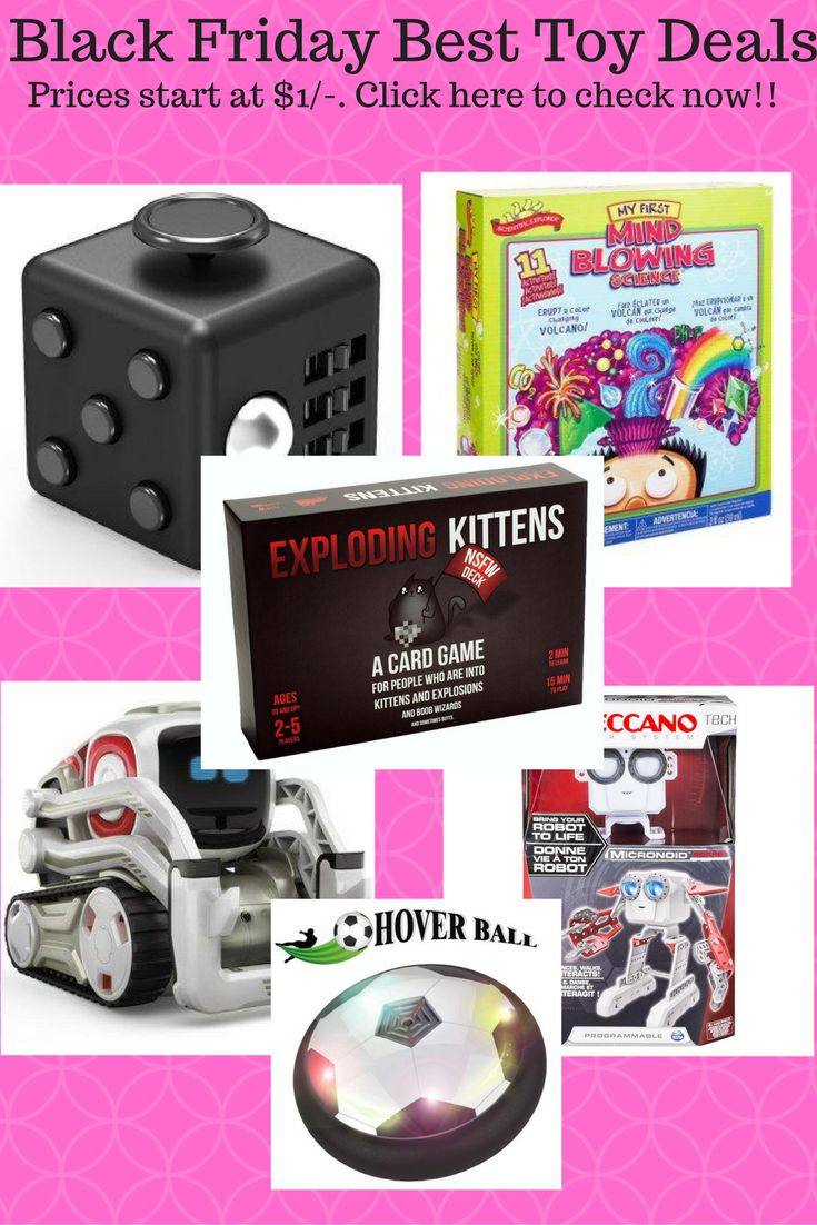Check below the best toy deals for Black Friday: Contents1 Scientific Explorer My First Mind Blowing Science Kit1.1 Check Price on Amazon2 XDesign Fidget Cube Focus Fidget Toy, Prime Quality, Anti-Stress Cube Ball Toys for Children, Teens, Students and Adults2.1 Check Price on Amazon3 Cozmo3.1 Check Price on Amazon4 Meccano – Micronoid – Red Socket4.1 Check Price on[...]