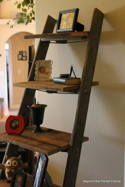 17 best images about ladders ladders and more ladders for Old wooden ladder projects
