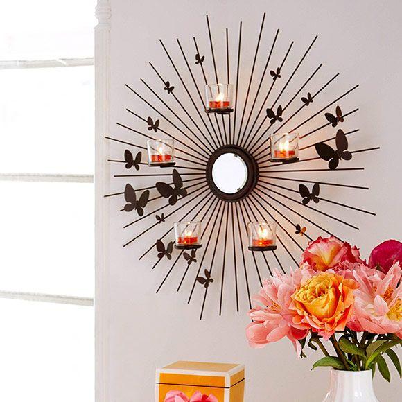 P92075 applique murale envol e de papillons annick - Applique bougie murale ...