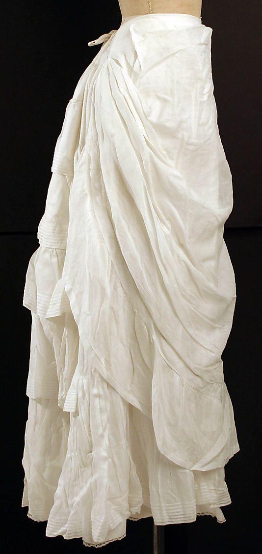 1880 peticoat Metropolitan Museum