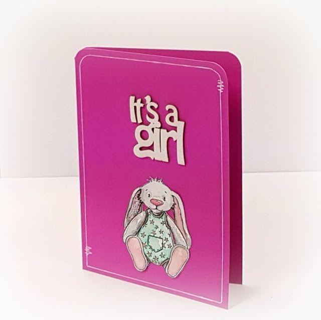 """http://tworyflory.blogspot.com/ Handmade birthday card. Papelia.pl stamp """"Mela""""."""