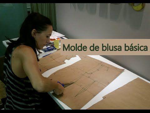 Modelagem de blusa / corpinho básico - YouTube