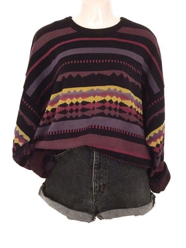 Mein True Vintage Oversize Muster Pulli Pullover Retro 90s Urban Street Style Bunt Von True Vintage Grosse Einheitsgrosse Urban Street Style Coole Outfits Tuch