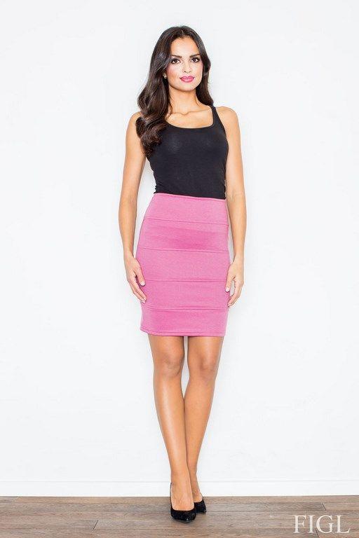 Różowa mini spódnica z podwyższonym stanem
