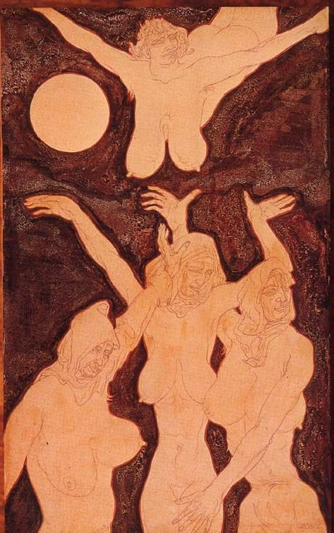 Four Flying Witches (Austin Osman Spare)