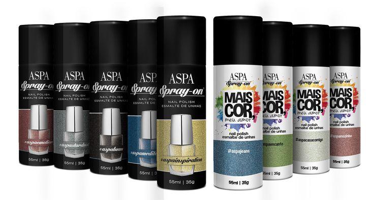 Empresa brasileira lança esmaltes em spray