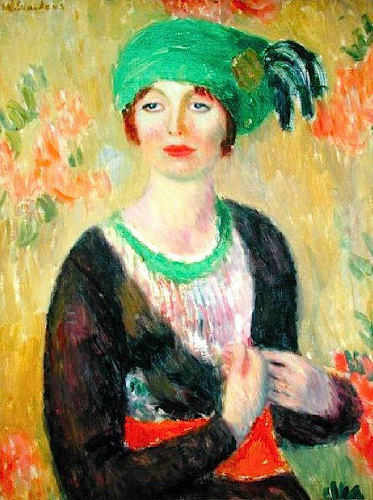 Girl with Green Turban (oil on canvas), William James Glackens