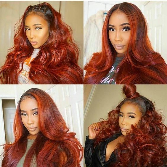 New Arrival Alert Autumn Fall Color Frontal Wig 100 Virgin Human Hair Up To 70 For Black Friday Shop Link In Bio Hotb Hair Styles Orange Hair Hair