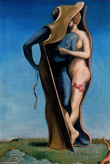 Max Ernst- Vive l'amour (Le Pays Charmant) Art Experience NYC davidcharlesfoxexpressionism.com #expressionism #maxernst #expressionist #abstractartist