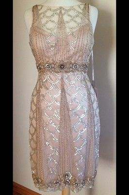 """Beaded Sue Wong """"Gatsby"""" Dress. This is GORGEOUS!!!"""