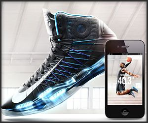 Nike Hyperdunk Similar to the Nike+ FuelBand, the Hyperdunk+ basketball  shoes tracks vertical jump,
