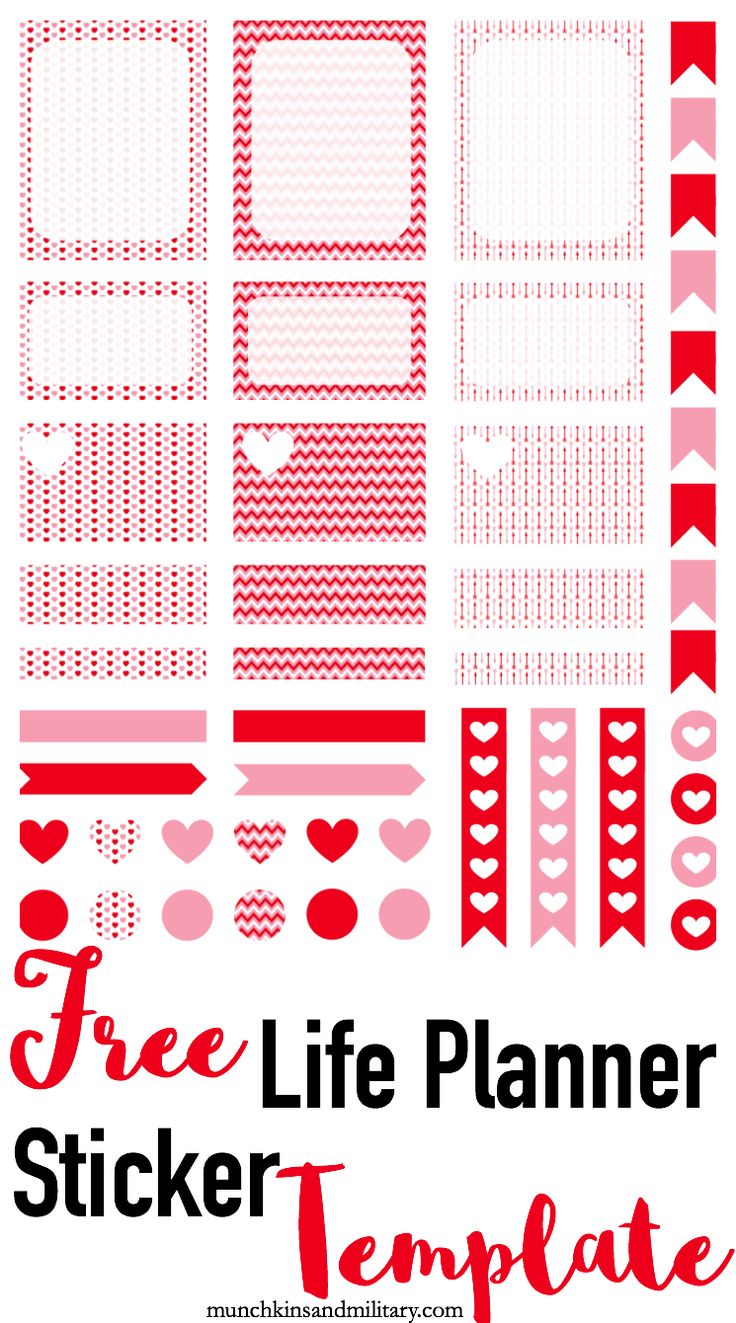 Free image file for Erin Condren Life Planner stickers! Will work for both Cricut and Silhouette cutting machines!