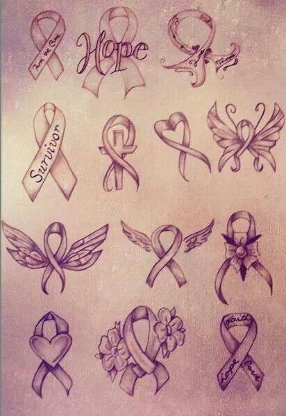 Cancer ribbon designs