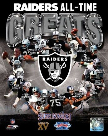 Oakland Raiders All Time Greats Composite Fine Art Print by ...