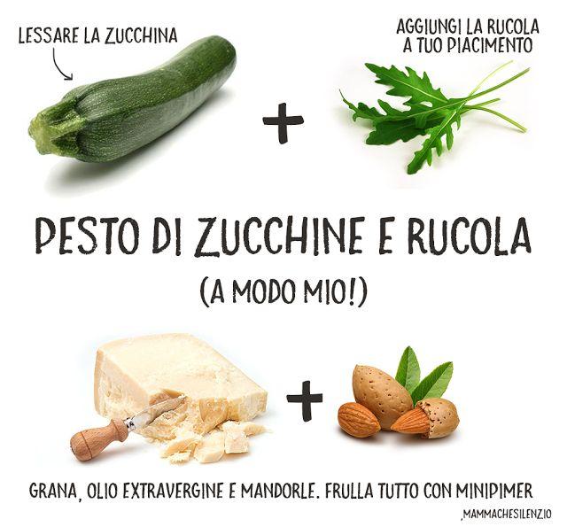 FOOD// PESTO DI ZUCCHINE E RUCOLA A MODO