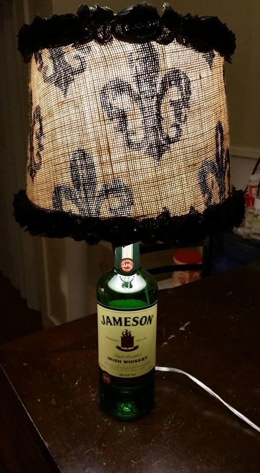 Jameson Liquor Bottle Lamp WITH Shade.