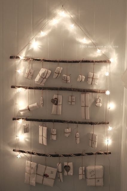 Love this idea for an advent calendar. Im making one of these for myself and gonna fill it with lovely treats!